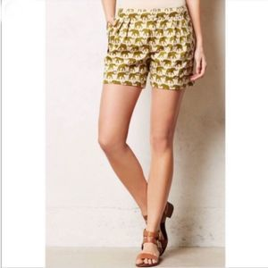 Anthropologie Cartonnier Elephant Shorts size 4